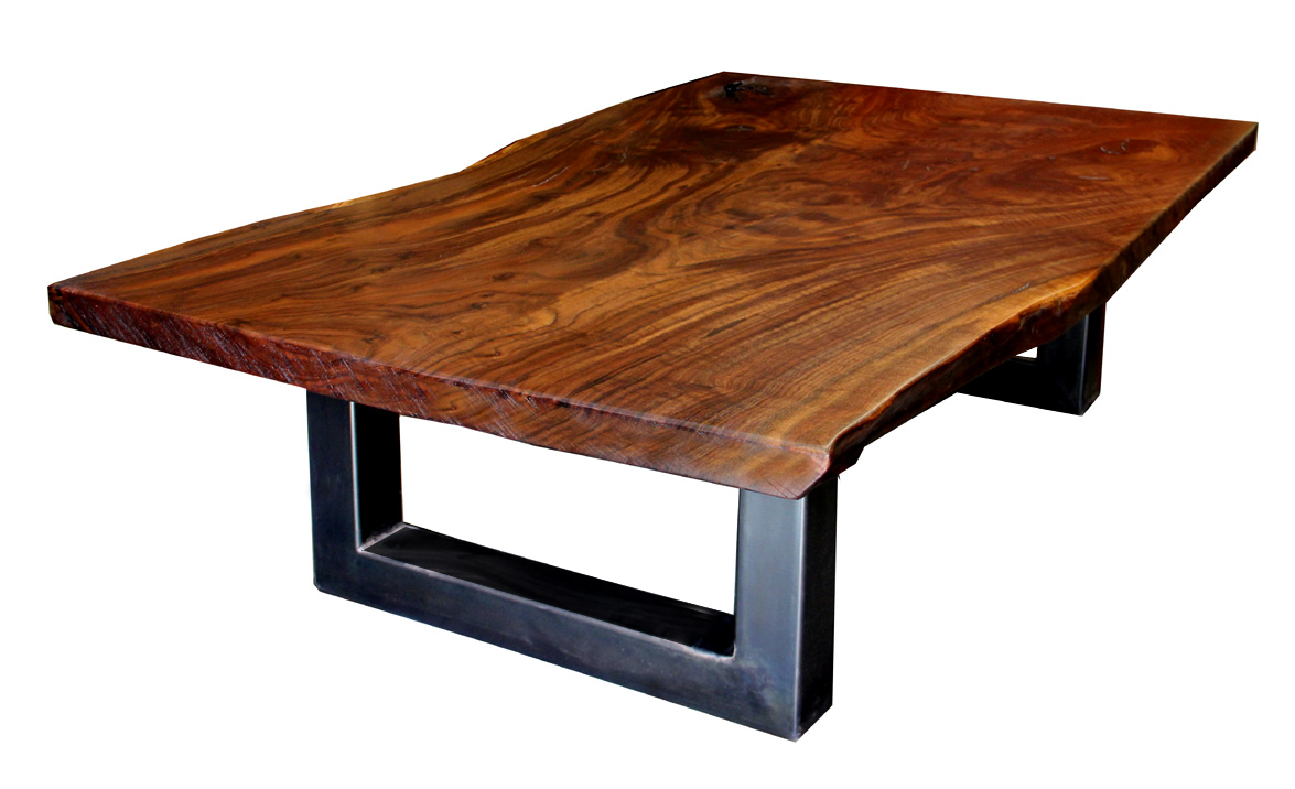 dorset custom furniture a woodworkers photo journal another claro walnut slab coffee table