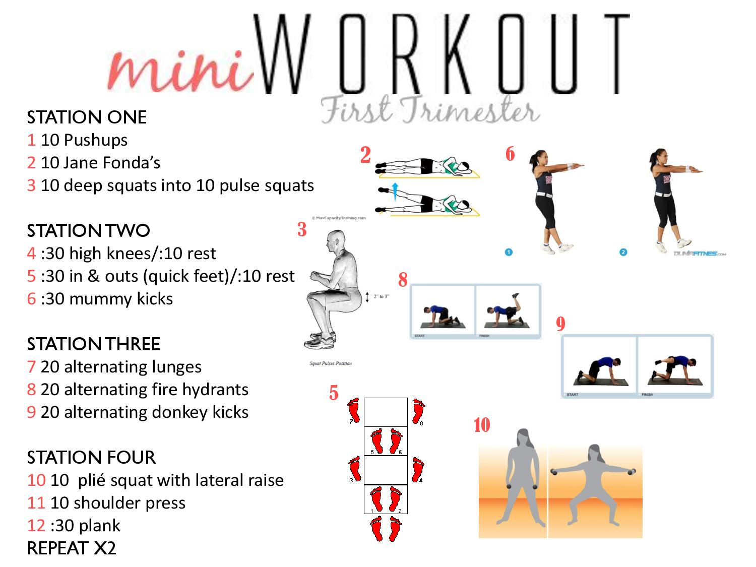 early pregnancy workout