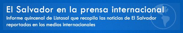 El Salvador en la prensa internacional
