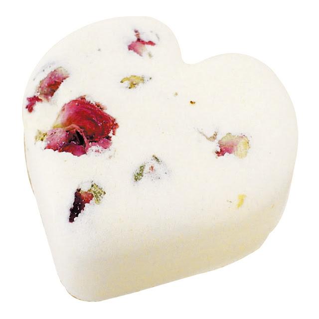 lush rose petal bath bomb