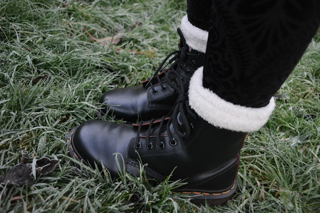 Dr Martens Boots and Black Milk Clothing Leggings
