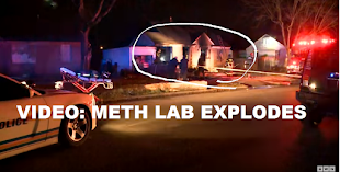 VIDEO METH LAB EXPLODES