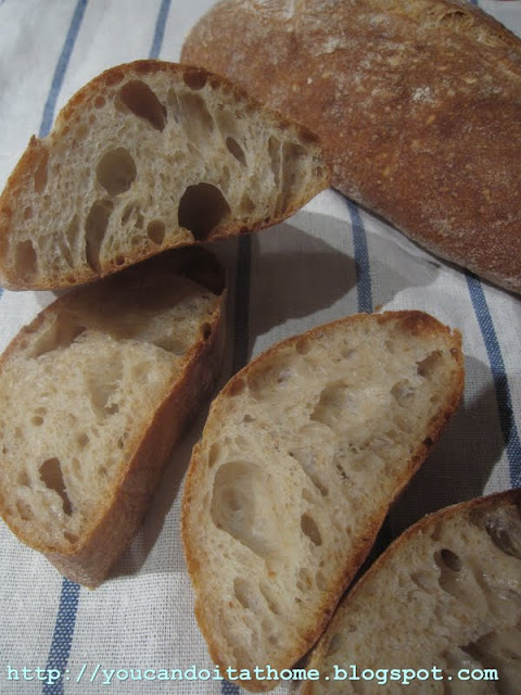 ciabatta with toasted wheat germ and olive oil – wheat germ obsession continues