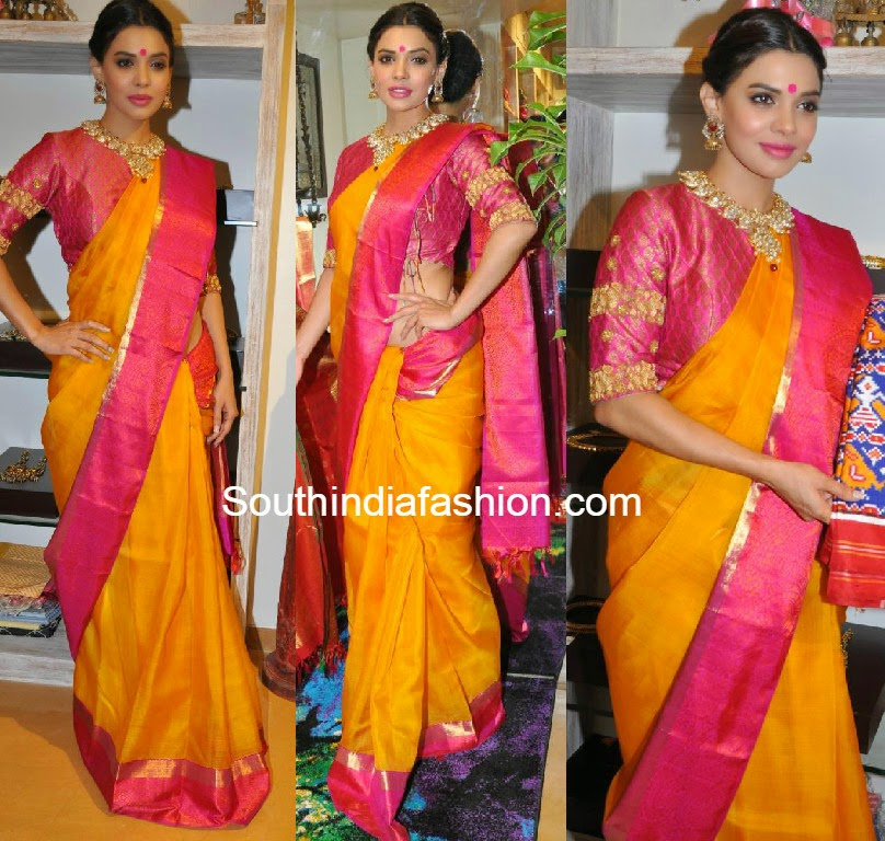sara loren in traditional saree