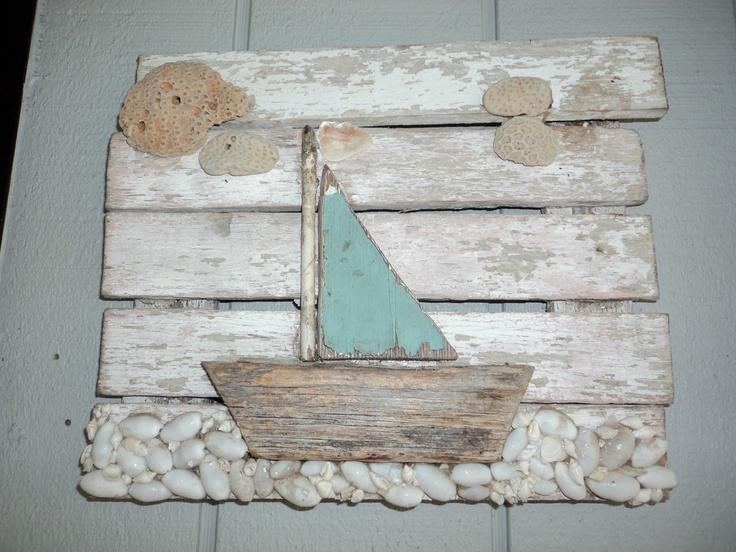 łódka hand made obraz morski prezent eco manufaktura