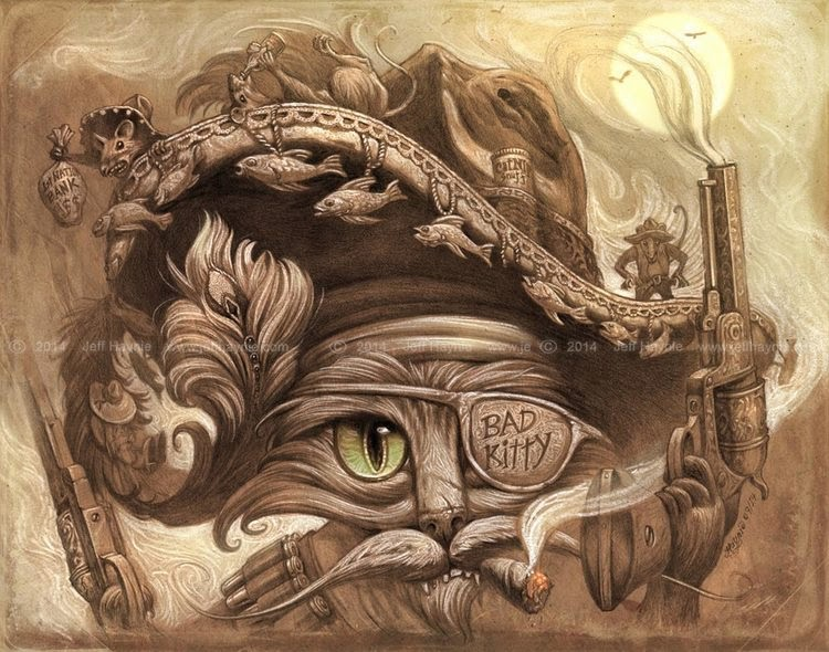 05-Bandito-Jeff-Haynie-Cats in Drawings-Paintings-and-Jewelry-www-designstack-co