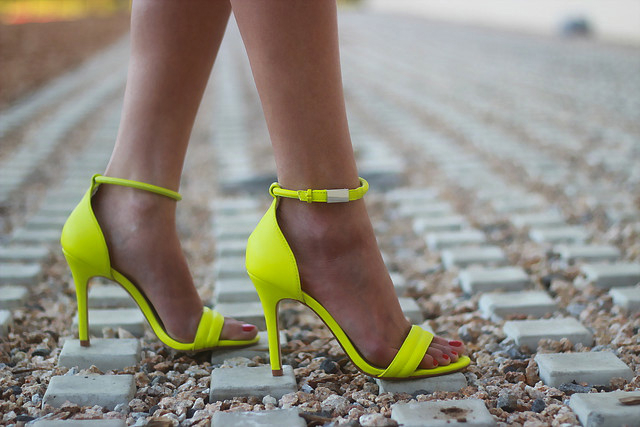 prabal gurung for target neon strappy heel sandals