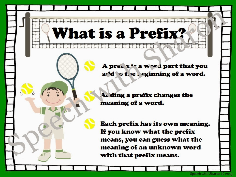 Speech With Sharon Serving Up Prefixes And Suffixes