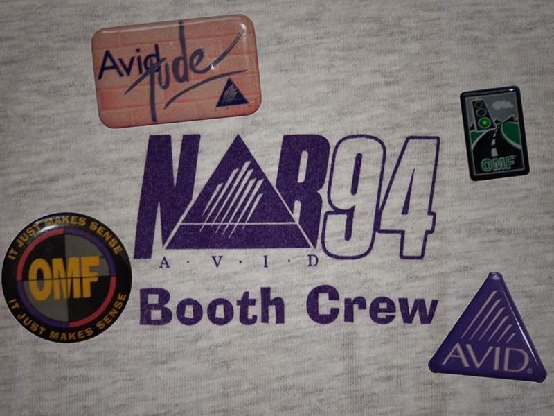 A setup t-shirt and some Avid swag from NAB's of years gone by.