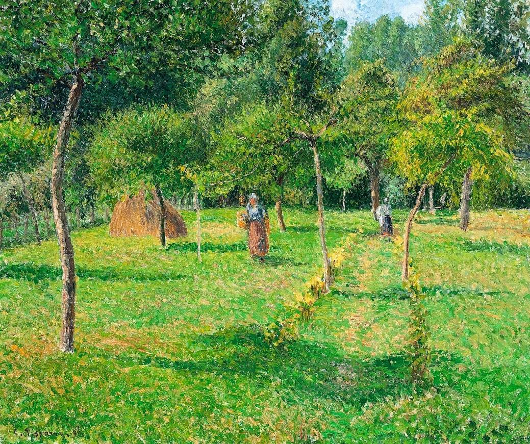 El huerto de Éragny, oleo sobre lienzo, Camille Pissarro