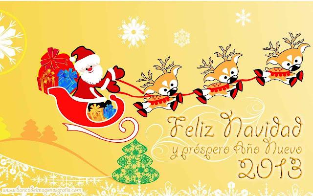 Feliz navidad con santa y los reños