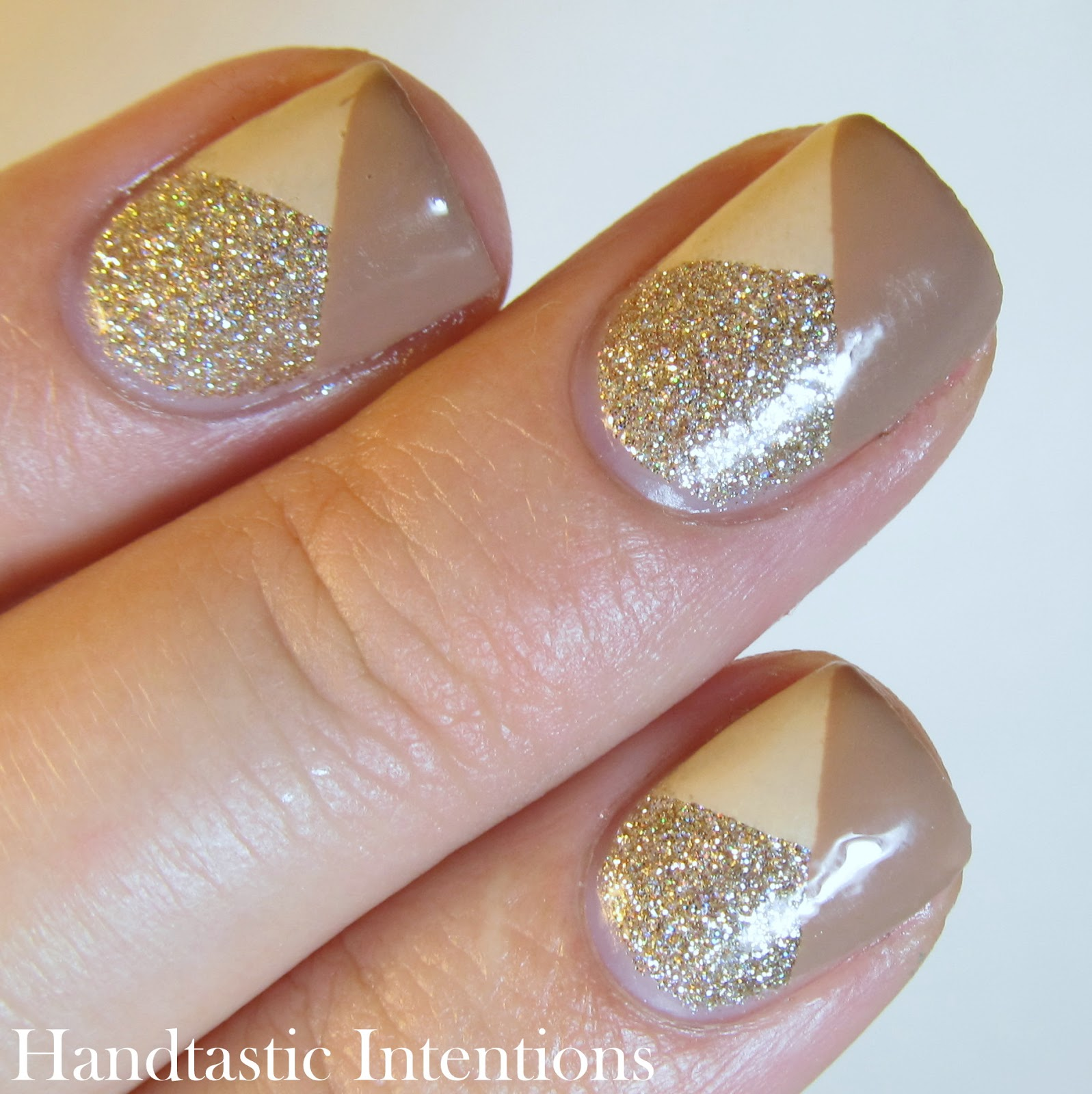Nail Art Using Painters Tape: Handtastic Intentions: Work Wear Wednesdays: Inspired By