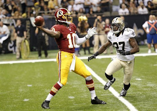 Washington Redskins, quarterback, Robert Griffin III, NFL football, New Orleans Saints
