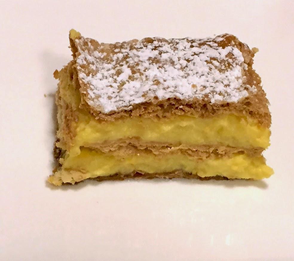 tarta de hojaldre con crema
