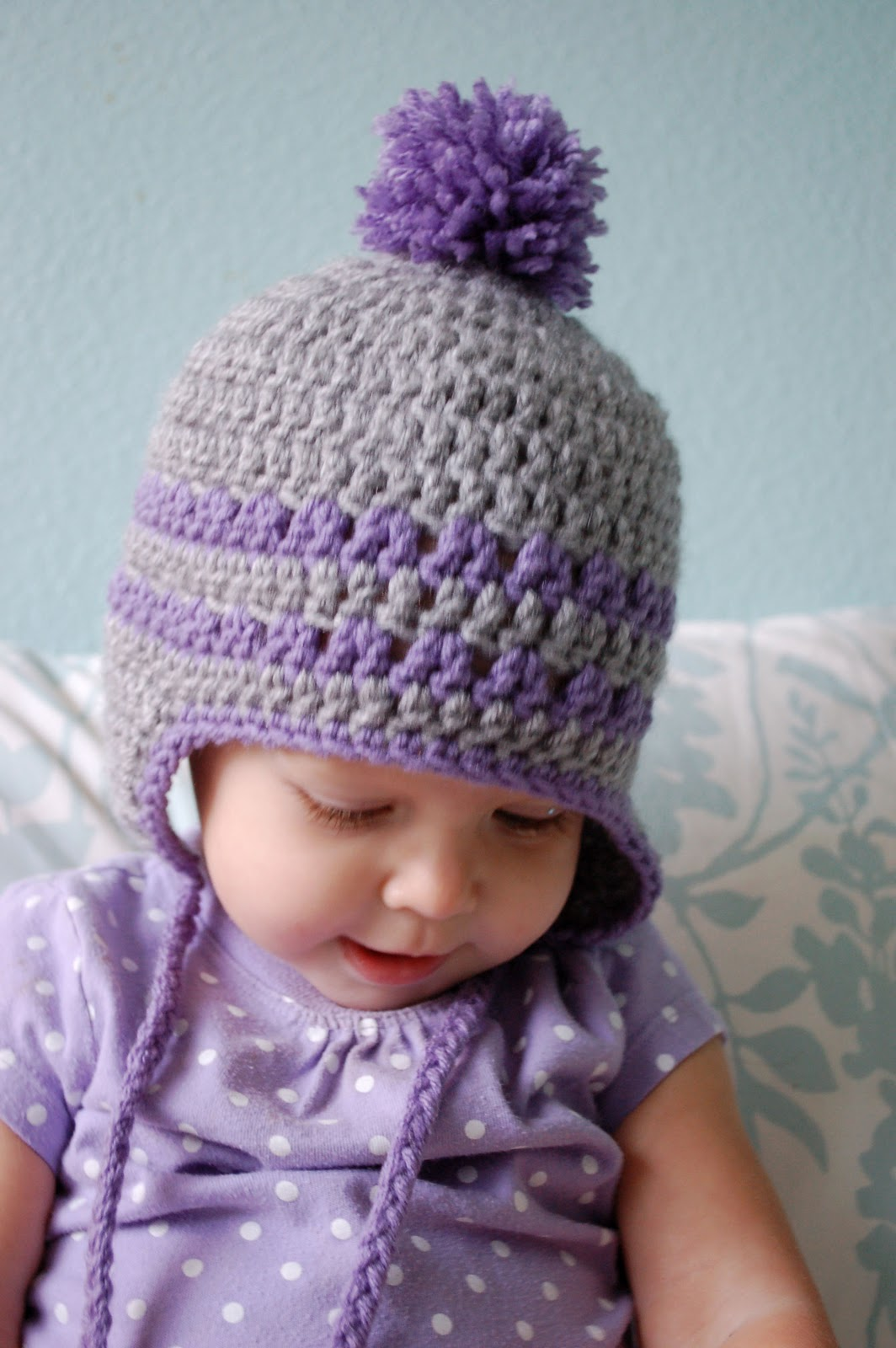 Crochet Hat Pattern For 8 Month Old : Alli Crafts: Free Pattern: Earflap Hat - 9-12 Months