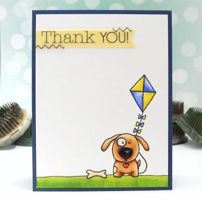 SRM Stickers Blog - Guest Designer - Jennifer Ingle - #card #clearstamps #guestdesigner #janesdoodles #littlemissmia #stickers #stitches #thankyou