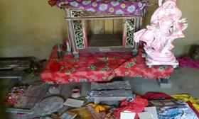 Vandalised four Hindu temples at Parshuram in Feni Bangladesh.