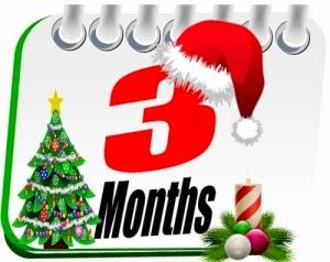 Three Months Till Christmas