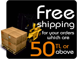 FREE SHIPPING FOR YOUR ORDERS WHICH ARE 50 TL OR ABOVE