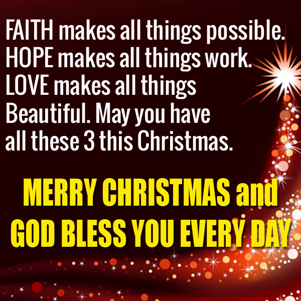 Motivational Words of Wisdom: MERRY CHRISTMAS AND GOD BLESS YOU ...