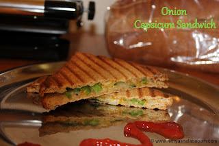 Onion Capsicum Sandwich