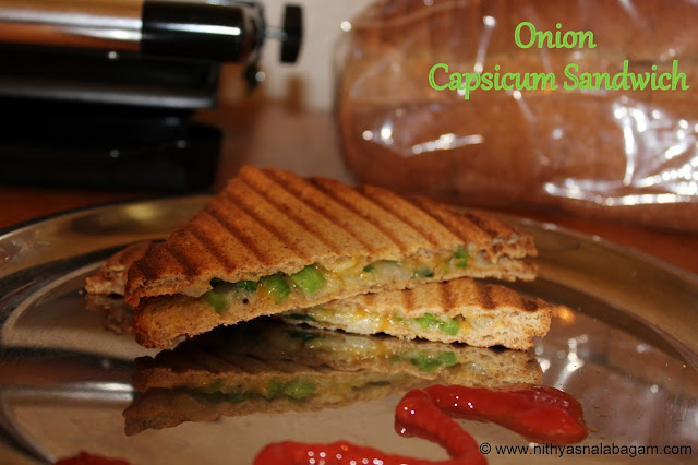 Onion Capsicum Sandwich | Easy Quick Breakfast