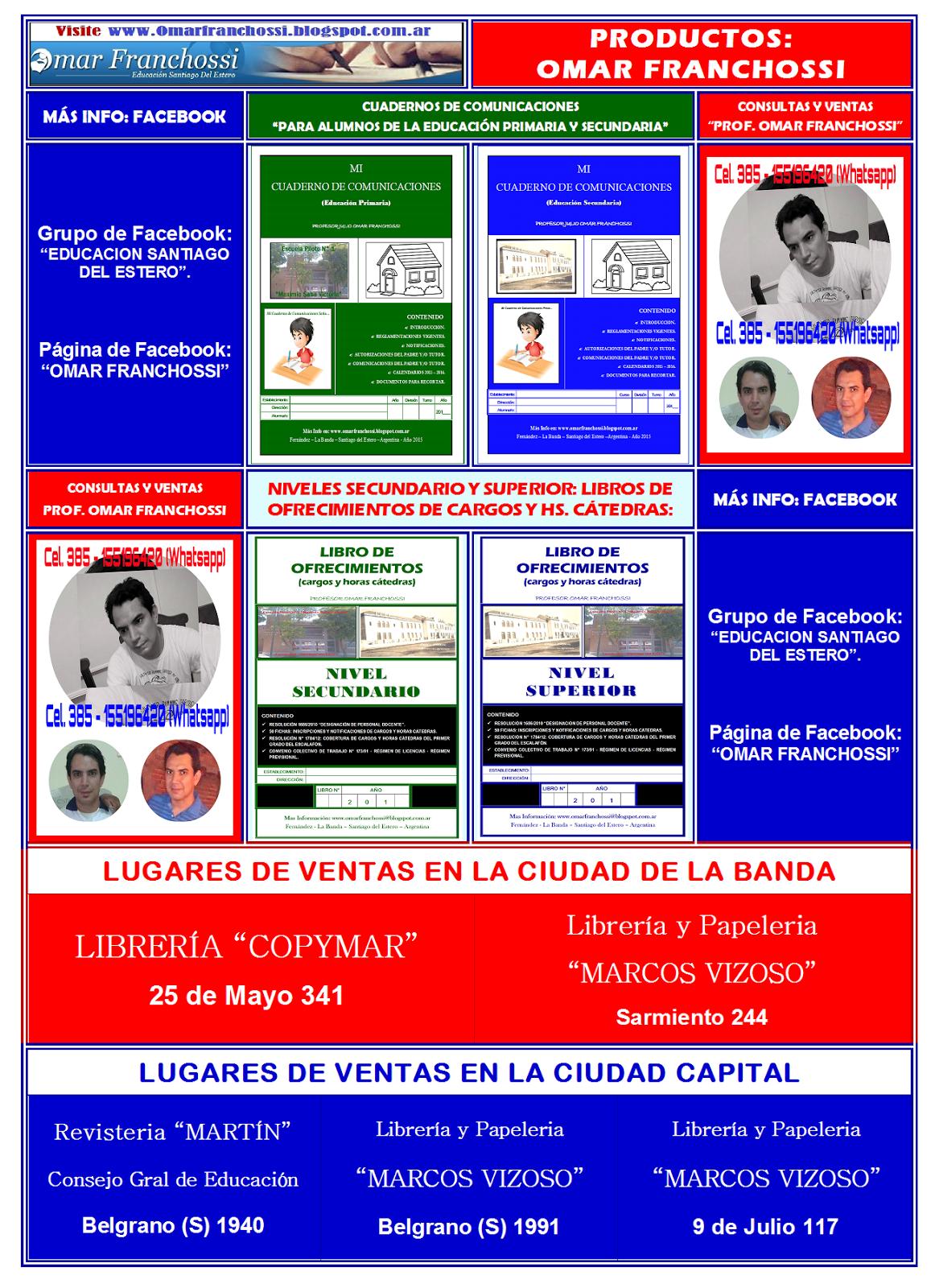 CUADERNOS DE COMUNICACIONES Y LIBROS DE OFRECIMIENTOS