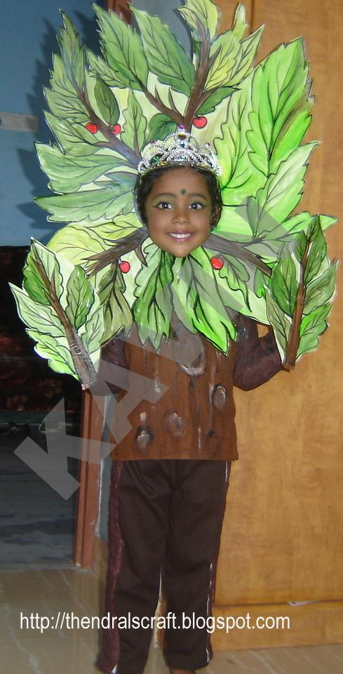 disfraz casero de árbol