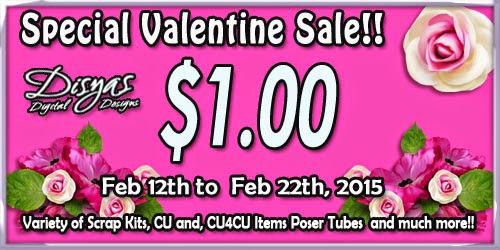 $1.00 Special Valentine Sale!!