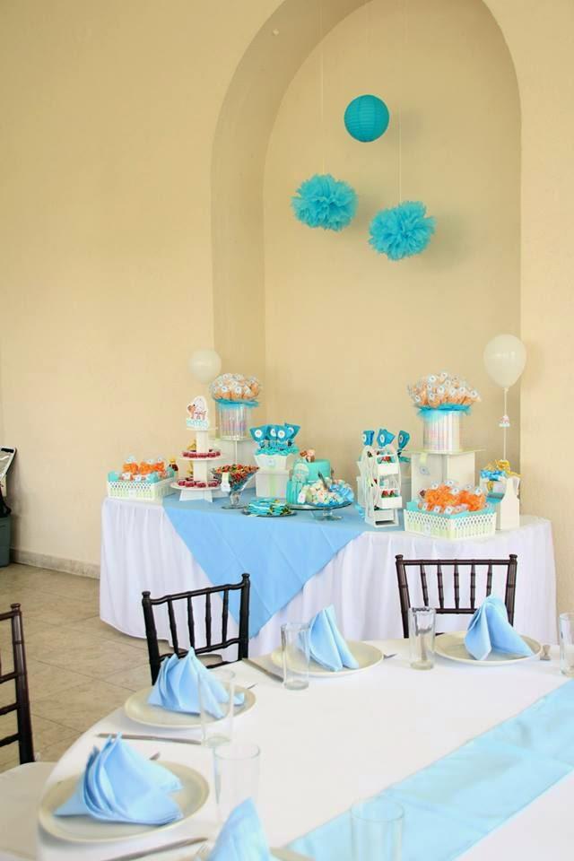 Mesa de dulces, botanas y pastel personalizado fondant okmira.com