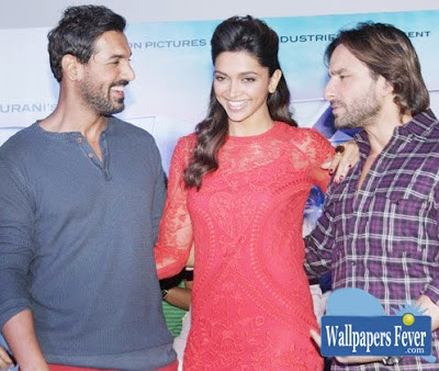 Deepika Padukone with Saif ali khan and John Abraham images