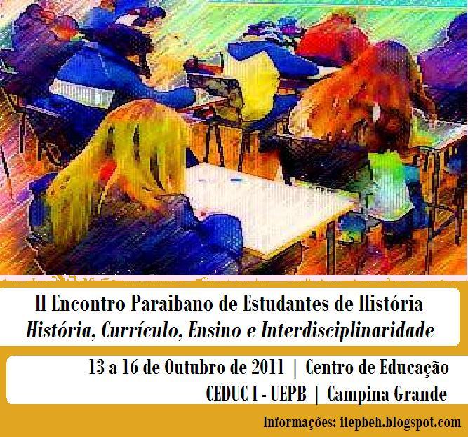 II Encontro Paraibano de Estudantes de História