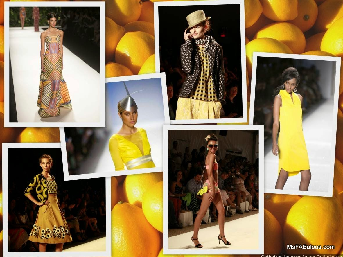 yellow dress catwalk