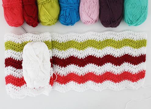 Crochet: ripple stitch blanket WIP