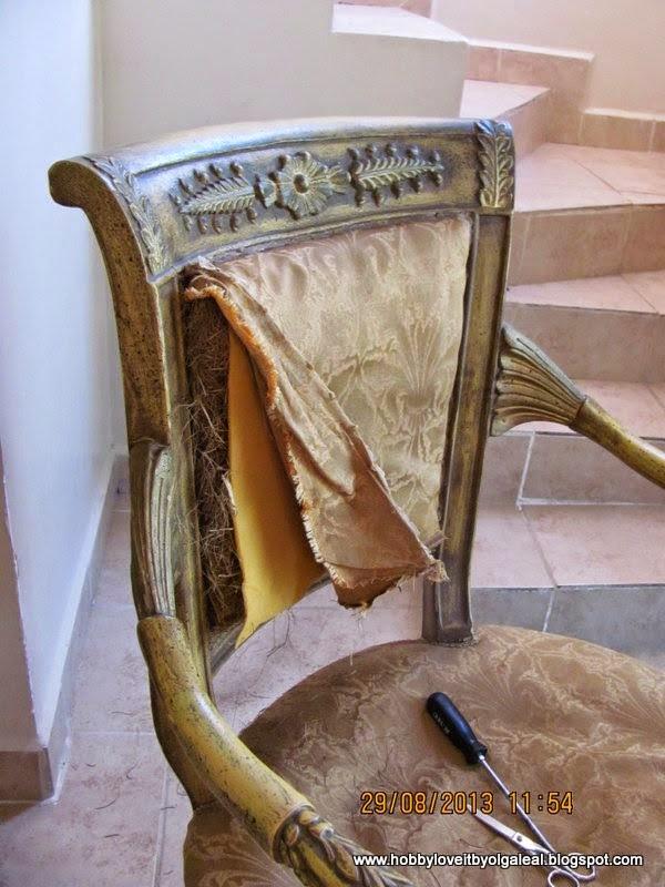 Hobby love it by olga leal como tapizar una silla - Como tapizar una silla con respaldo ...