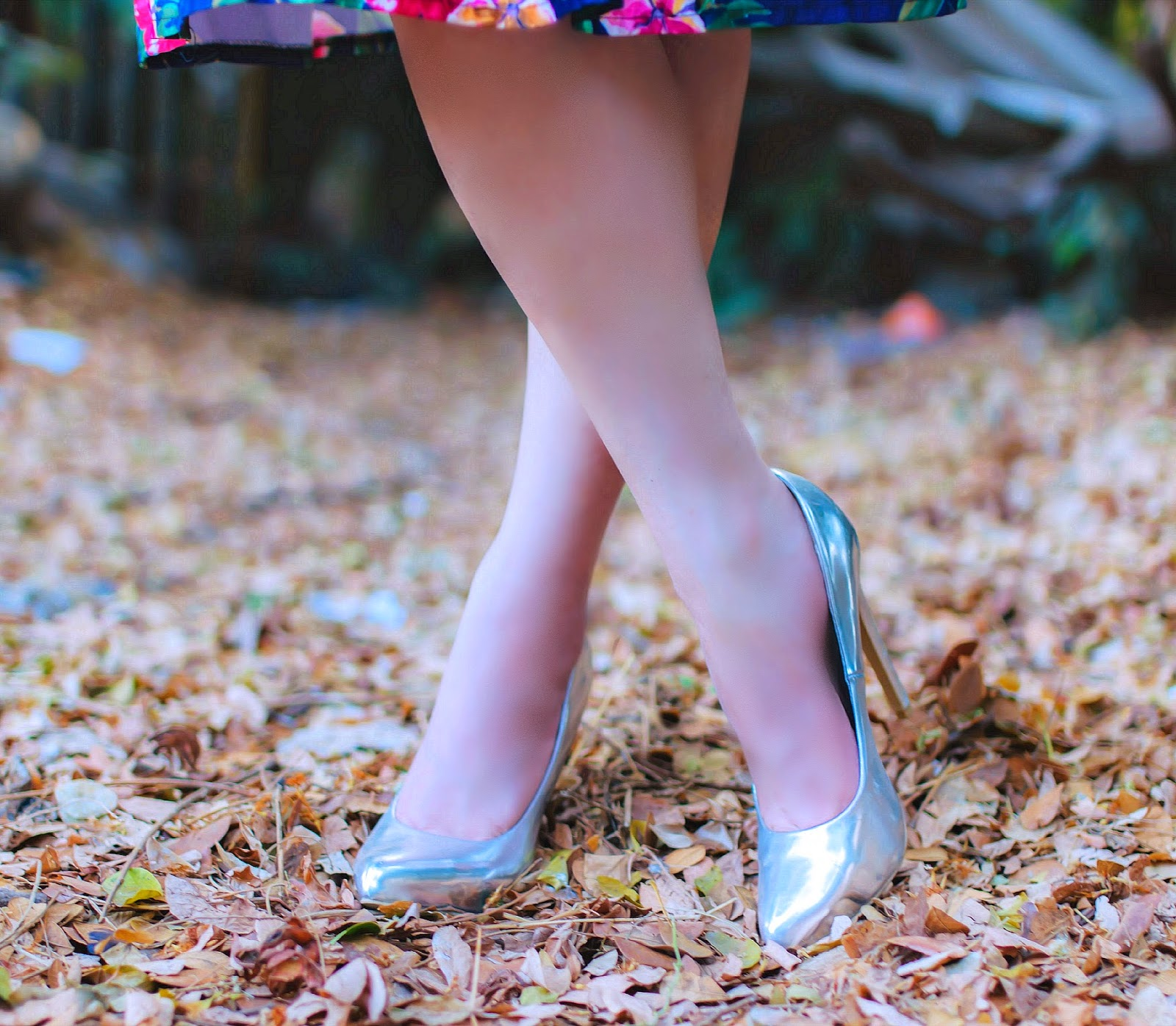Forever 21 Silver Metallic Pumps