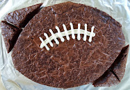 Super easy large football brownie