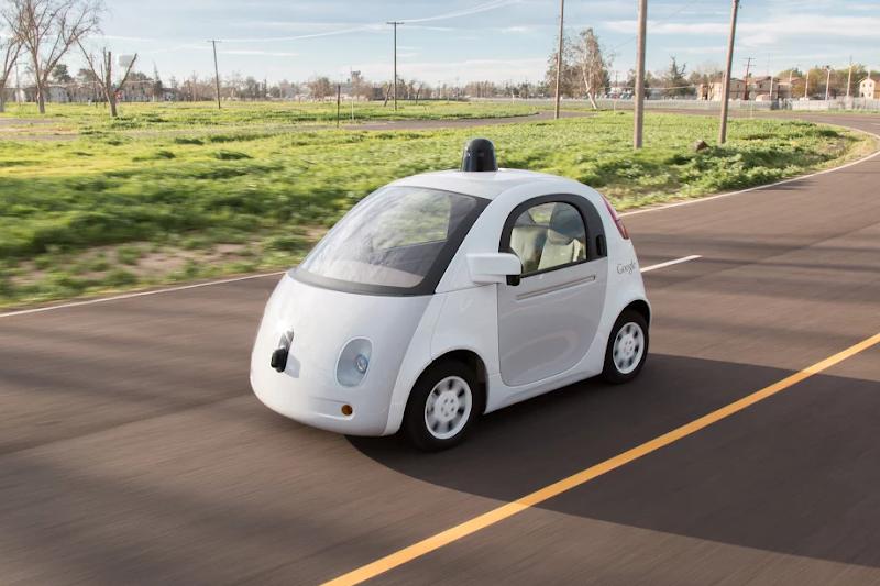 Google自動車原型,摘自Google官方部落格