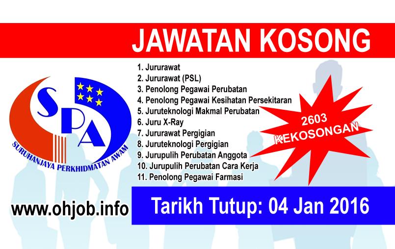 Jawatan Kerja Kosong Suruhanjaya Perkhidmatan Awam Malaysia (SPA) logo www.ohjob.info januari 2016