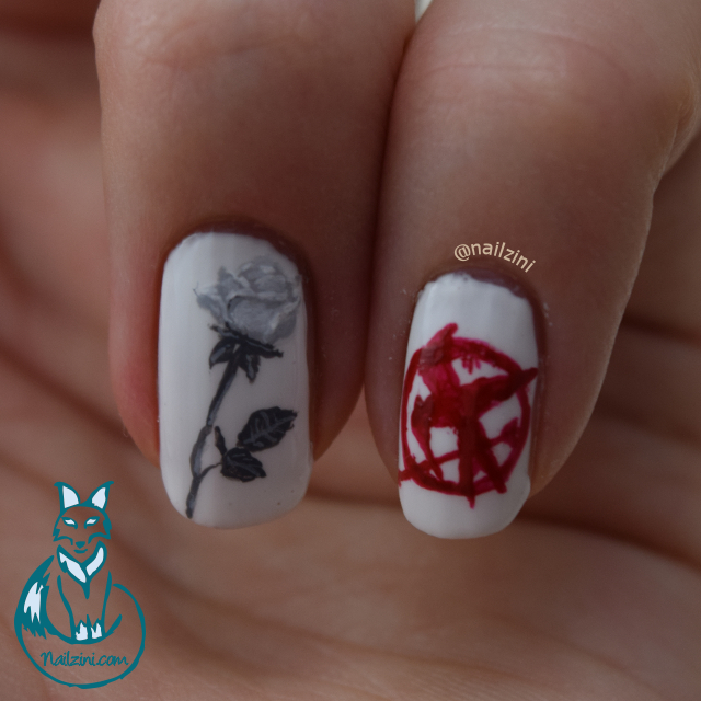 Hunger Games: Mockingjay part 2 nail art
