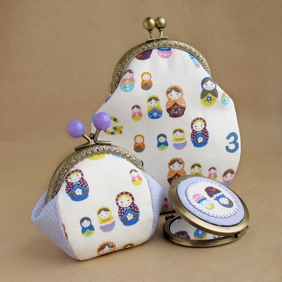 Matryoshka purse, шитье, кошелек