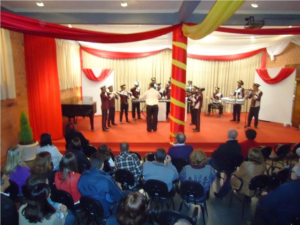 Alunos da premiada Banda do Centro Educacional Beatriz Silva se apresentam na Noite Espanhola da Feso Pro Arte