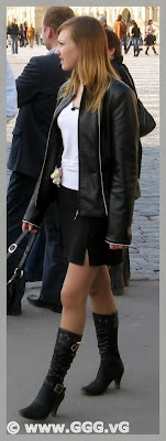 Girl in high heels on the street