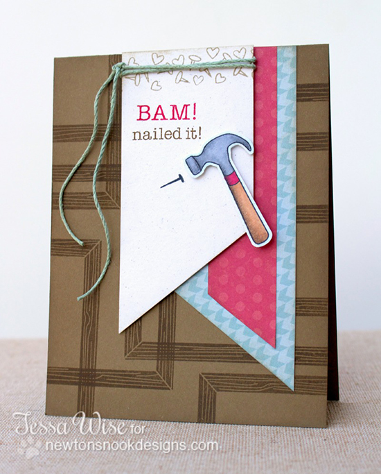 Nailed it! Card by Tessa Wise | Around the House Stamp Set | Newton's Nook Designs
