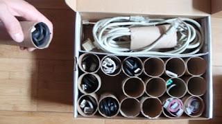Organizadores Reciclados para Cables
