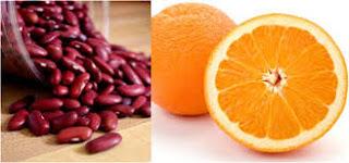 Trắng da với mặt nạ đậu đỏ + nước cam + dầu hạnh nhân