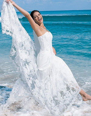 Hawaiian beach wedding dresses enter your blog name here for Honolulu wedding dress rental