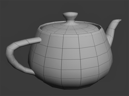 Wireframe Render of a Teapot with Scanline 3ds Max