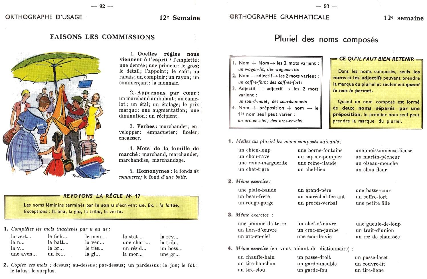 Manuels anciens: Berthou, Grammaire, conjugaison, orthographe, CM1