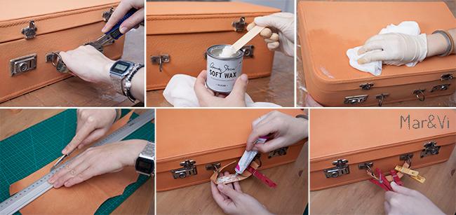 pintar una maleta vieja con chalk paint paso a paso